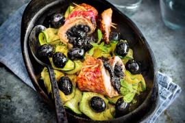 Filets de rougets à la tapenade d'olives