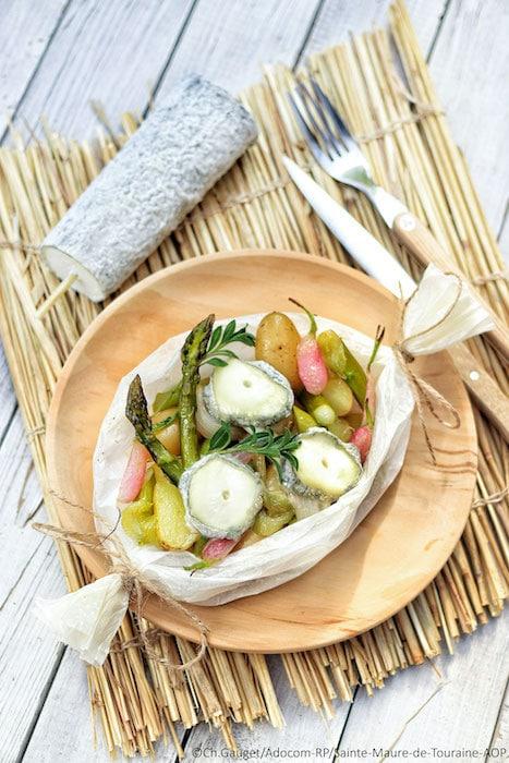 recette de Papillotes de légumes croquants au chèvre