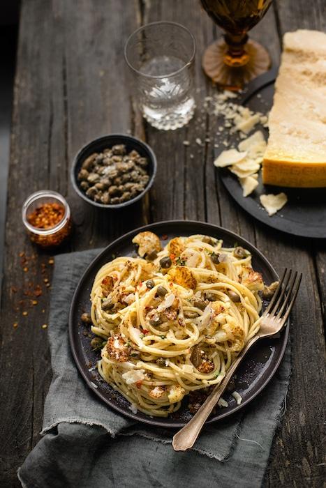 recette de Spaghettoni au chou-fleur