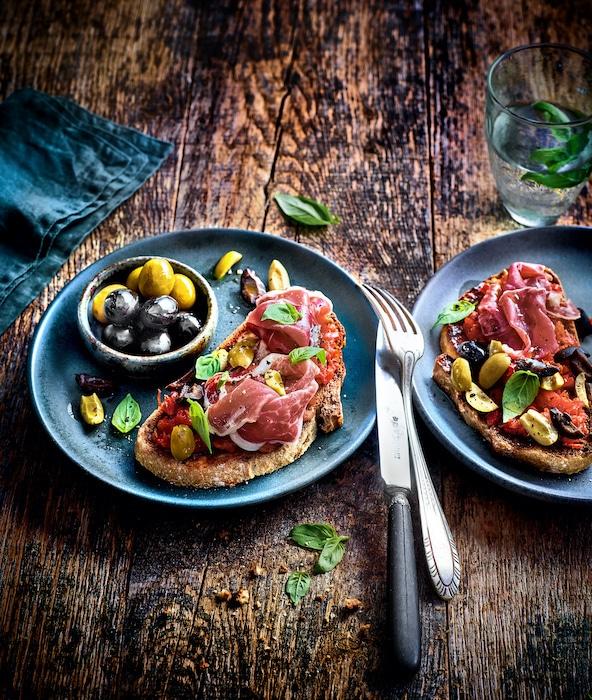 recette de tartines aux olives