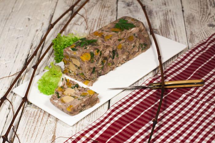 recette de Terrine d'agneau au foie gras