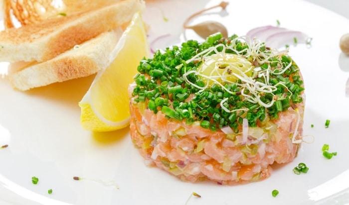 recette de Tartare de saumon léger
