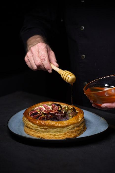recette de Croustade de figues à la frangipane aux noix