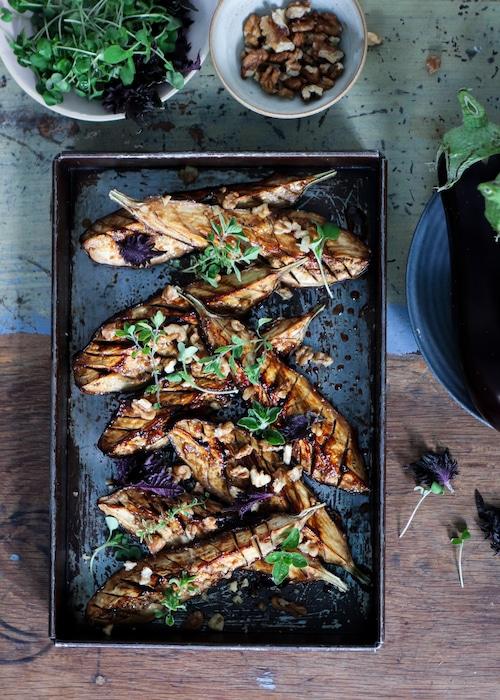 recette d'Aubergines grillées au miso
