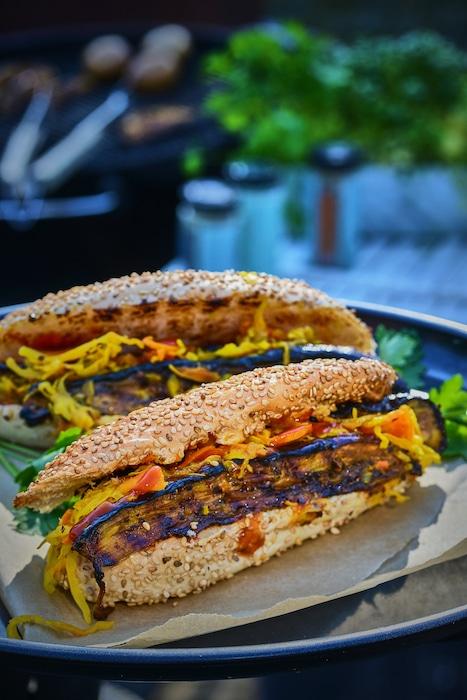 recette de Hot-dogs à l'aubergine