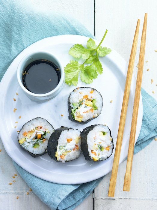 recette de Kimbaps coréens au fromage frais