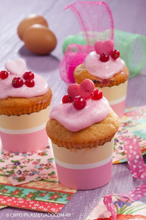 recette de Cupcakes aux fruits rouges