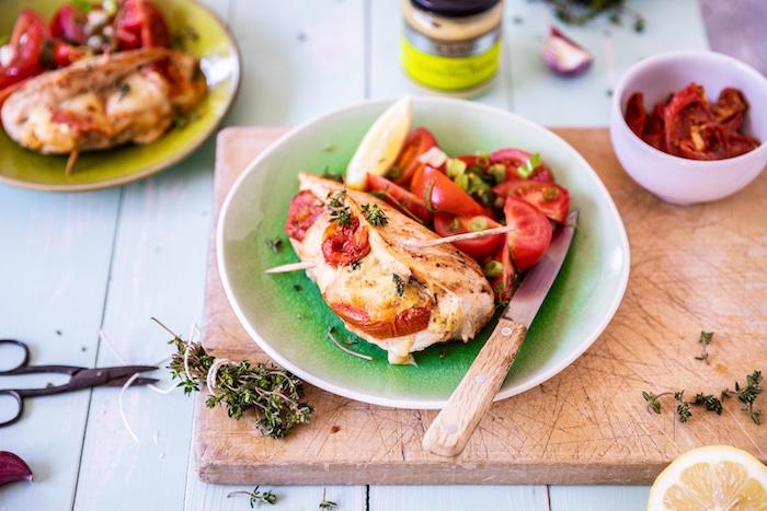 recette d'Escalopes farcies aux tomates confites