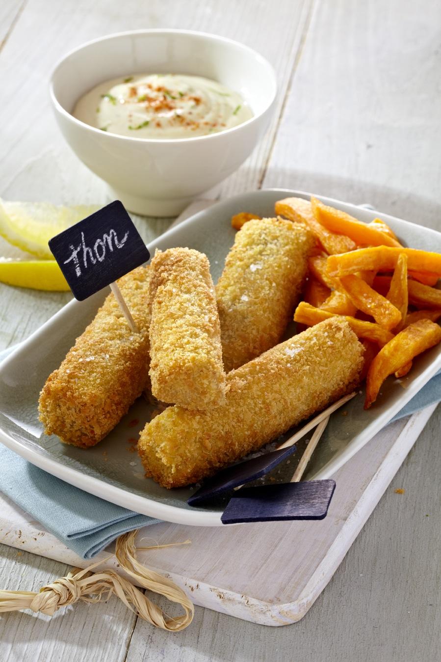 recette de Fish and chips de patates douces