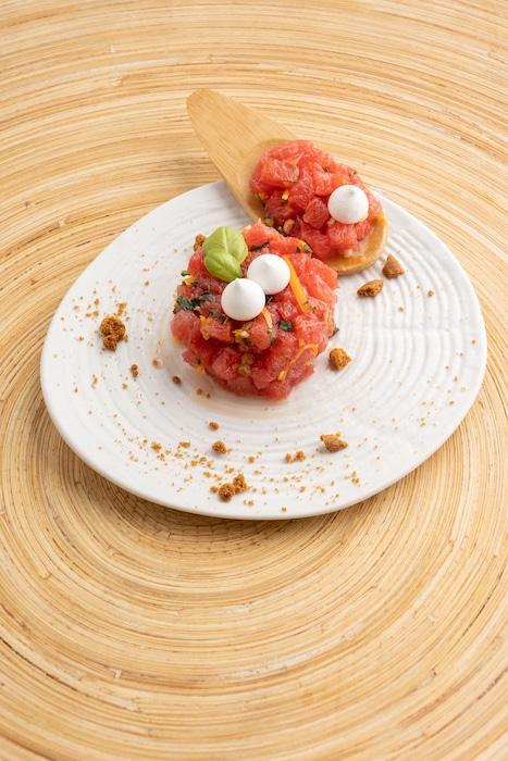 recette de Salade de pamplemousse aux meringues et spéculoos