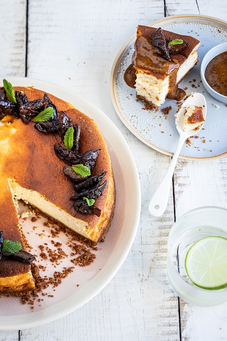 recette de Gâteau au fromage blanc aux pruneaux