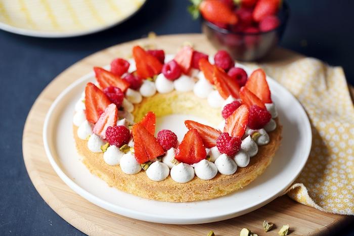 recette de Gâteau-tarte aux fruits rouges