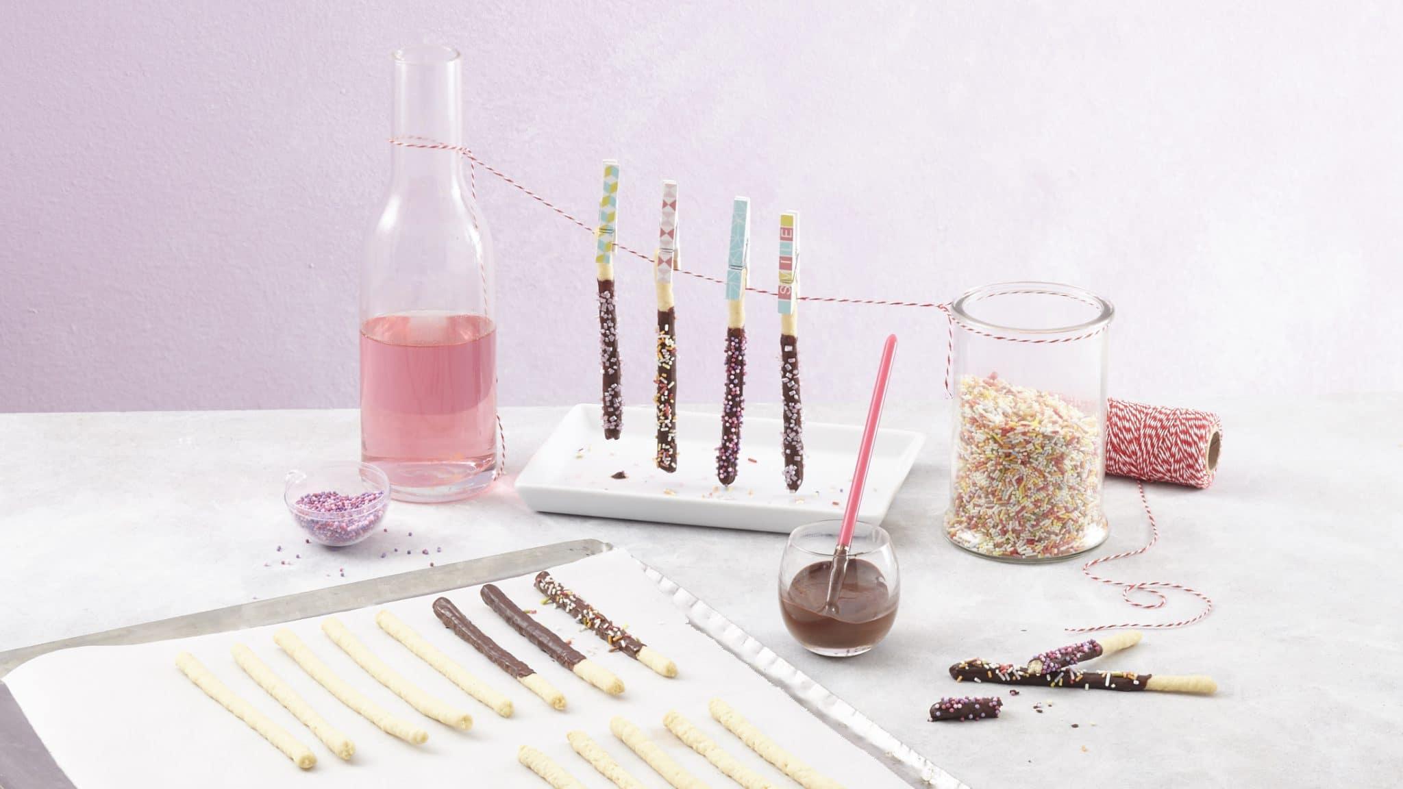 recette de Mikado maison au chocolat