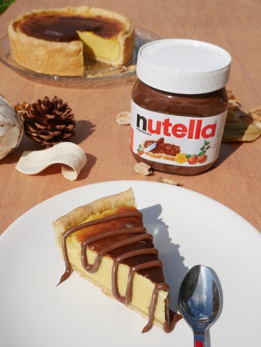 recette de Flan vanille et Nutella