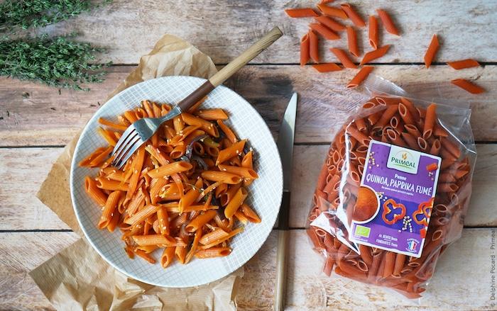recette de Penne quinoa et paprika