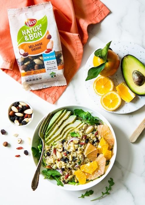 recette de Salade de quinoa aux agrumes