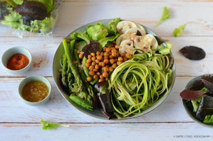 recette de Salade healthy aux pois chiches