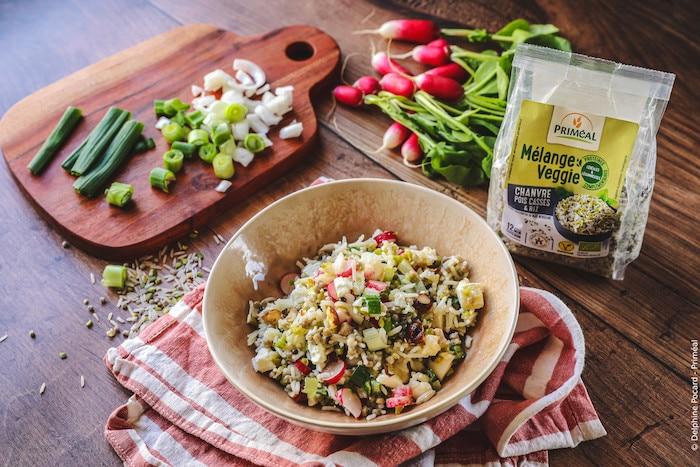 recette de Salade veggie au chanvre