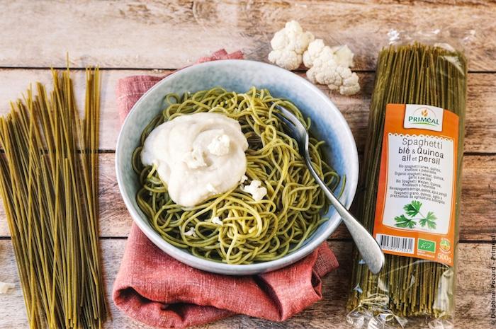 recette de Spaghetti quinoa ail et persil