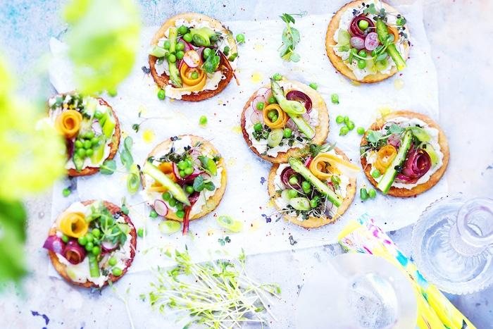 recette de Tartelettes à la ricotta et aux légumes