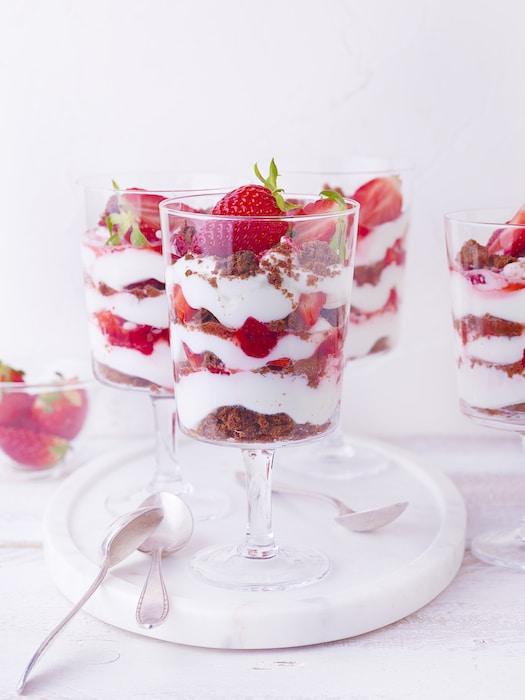 recette de Verrines de fraises