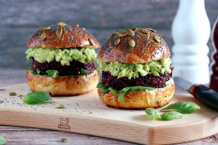 recette de Burgers veggies à la betterave