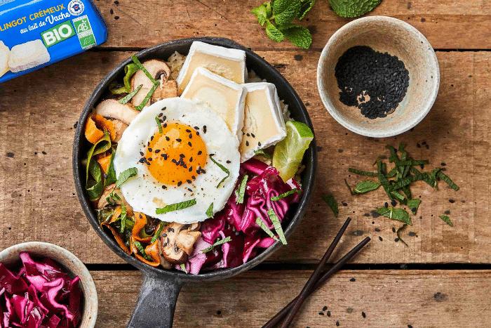 Bibimbap coréen végétarien