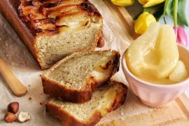 Cake vegan poire et noisettes