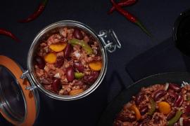 Chili con carne en conserve