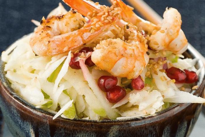 Crevettes à la chinoise et chutney de tamarin