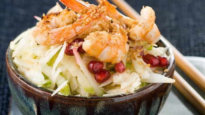 recette de Crevettes à la chinoise et chutney de tamarin