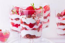 Verrines de fraises