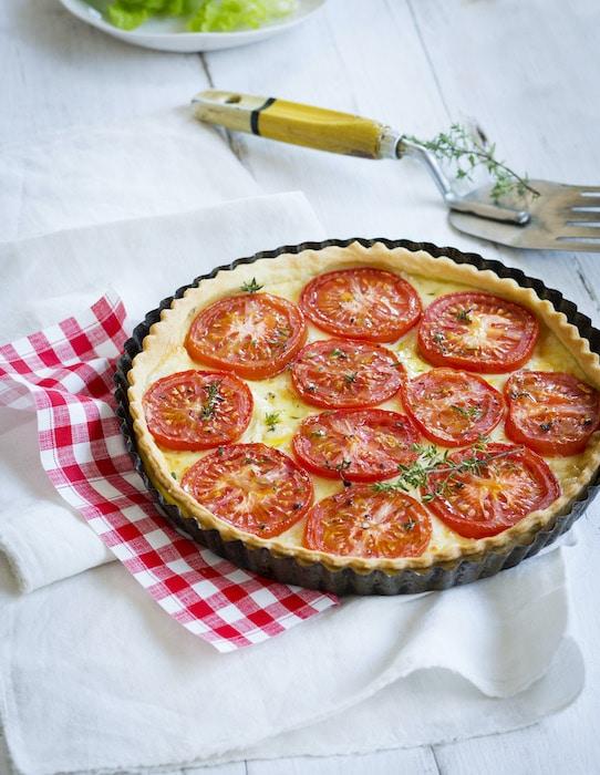 recette de Tarte aux tomates et cheddar