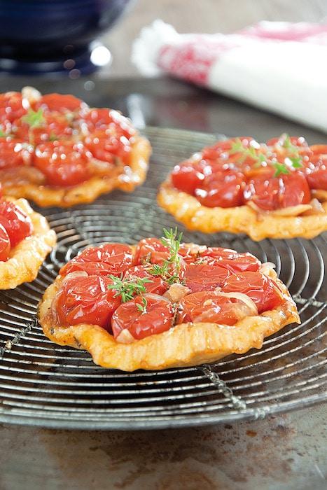 recette de Petites tatins de tomates cerises