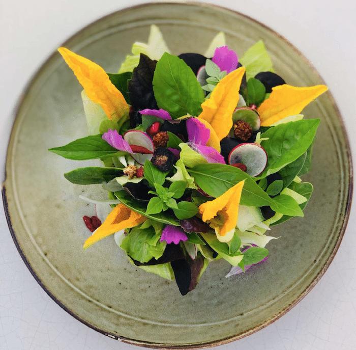 La salade du potager des Graniers la recette du Byblos