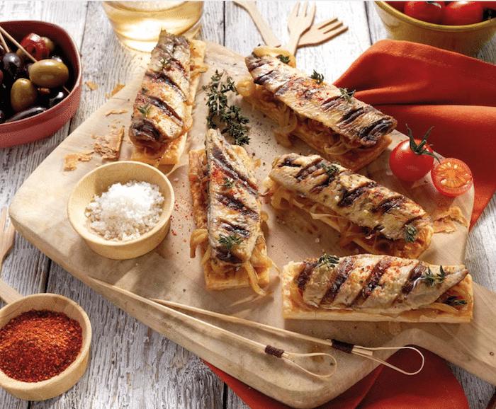 recette de Tartines de sardines façon Pissaladière