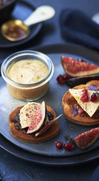 Toasts de foie gras aux figues