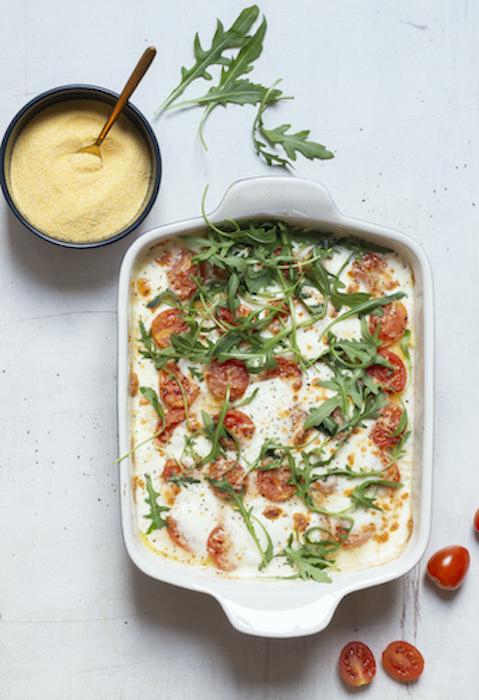 recette de Polenta de maïs gratinée aux tomates