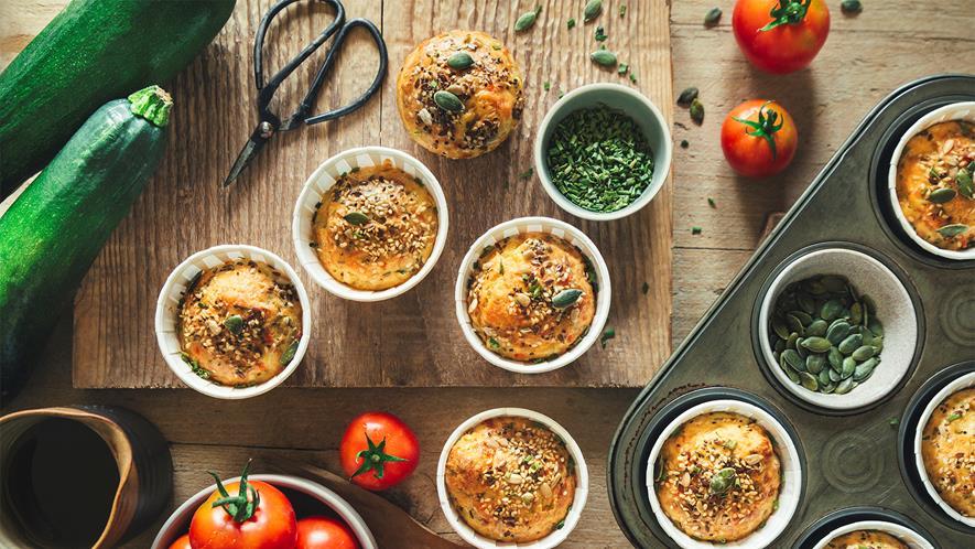 recette de Muffins aux courgettes et fromage de brebis