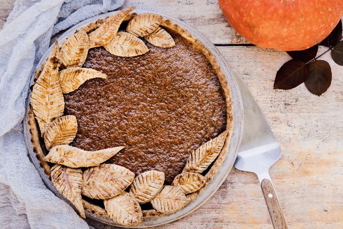Pumpkin pie au lait de noisette