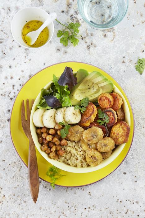 recette de Buddha bowl au quinoa et bananes
