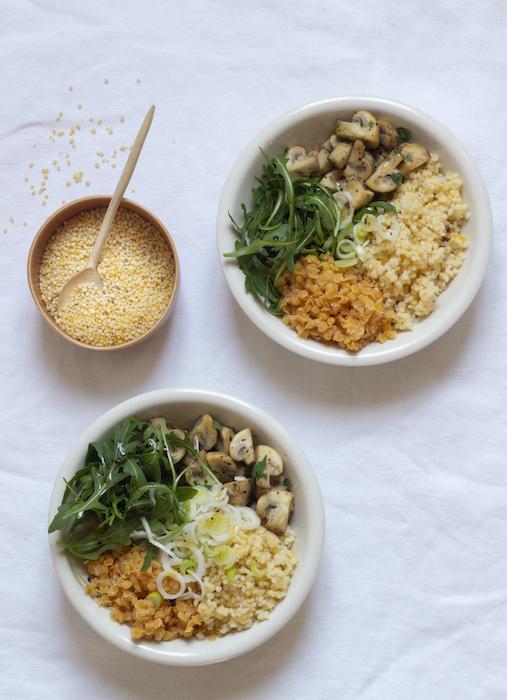 recette de Buddha bowl aux perles de blé