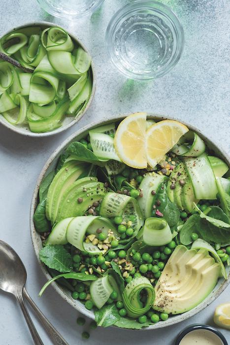 recette de Salade verte aux lentilles du Puy