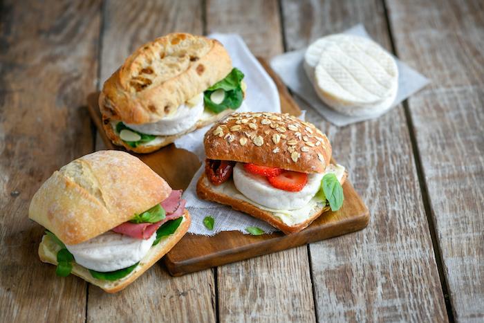 recette de Mini sandwichs au Cabécou