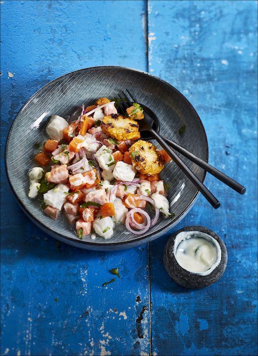 recette de Ceviche aux deux poissons et au yaourt