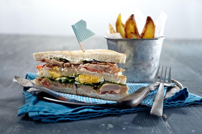 recette de Club sandwich aux filets de thon