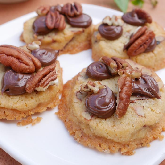 recette de Cookies aux noix de pécan et Nutella