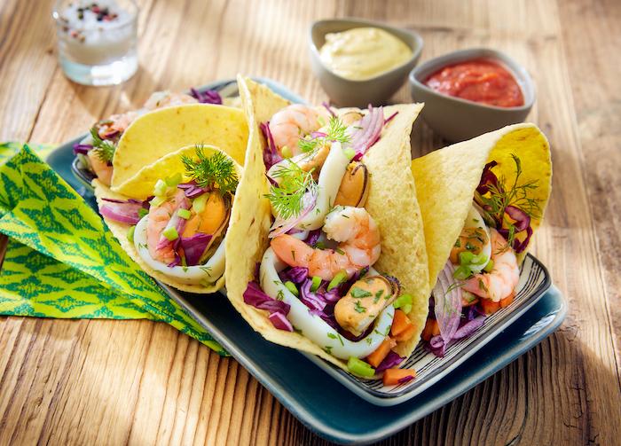 recette de Tacos aux fruits de mer