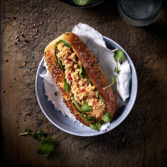 recette de Hot dog aux rillettes de saumon