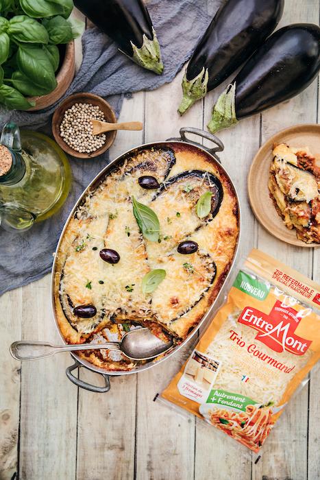 recette de Lasagnes aux aubergines et au fromage